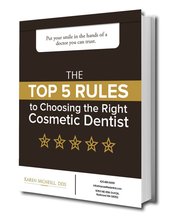 Preview of our FREE ebook download titled The Top 5 Rules to Choosing the Right Cosmetic Dentist