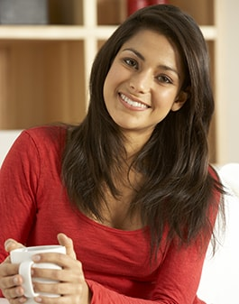 Image of smiling woman from general dentistry