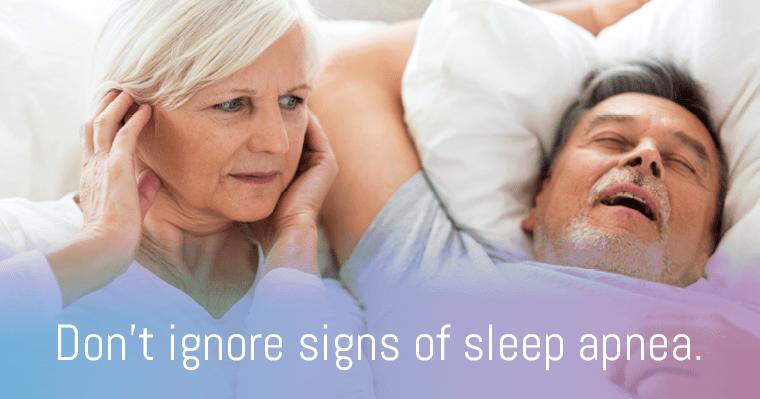 Sleep apnea could be disrupting your sleep.